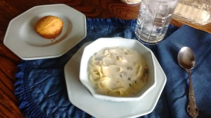 Soup and cornbread